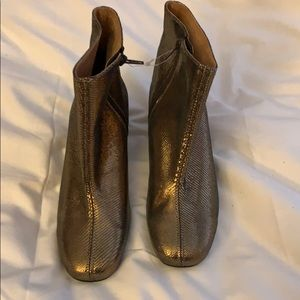 Metallic gold SIXTYSEVEN booties BRAND NEW